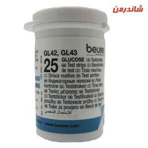 نوار تست قند خون بیورر مدل GL42