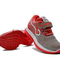 کفش بچه گانه تن تاک طوسی قرمز مدل آراد